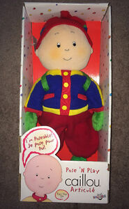 "Caillou 16"" Plush ""Pose 'N Play"" Doll (2002) NEW IN BOX!!!"