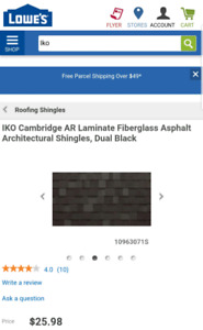 Iko Architectural Shingles