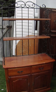 Antique iron bakers rack today 160.00
