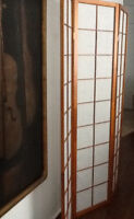 PARAVENT -SCREEN IN WOOD& TISSU -JAPANESE STYLE 50$