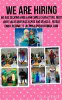 Looking for performers and Princess and Superhero