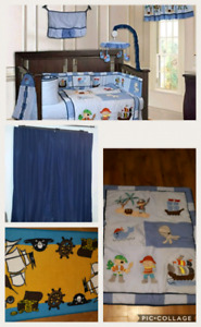 10 piece Pirate theme baby crib bedding