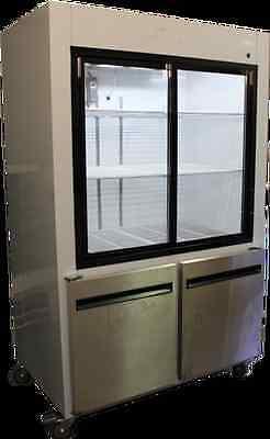 Coolman Refrigerator Sliding Doors And 2 Half Doors Reach-in Display Cooler 48