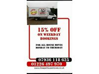 HOUSE MOVES FROM £60!! 2 MEN EXTRA LARGE LUTON VANS