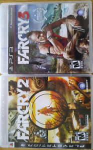 PS3 Games (2) FARCRY 2 and FARCRY 3  Not a gamer $10 Each