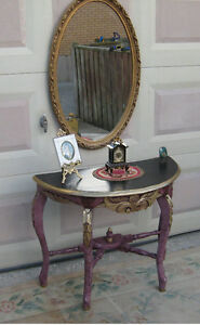 Console Stand with Mirror