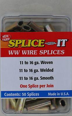 New Farm WW5 Wire Fence Splice-IT, 50/Pack, 16 Gauge