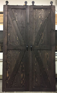 Quality custom made barn doors from hardwood or other materials