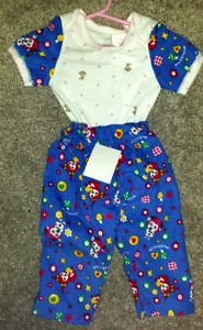 New 2 pce onesie/pant Infant girls outfit Hand-Made/Designed