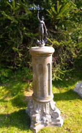 Heather Stone and bronze garden statue