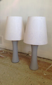 Table lamps, Grey and white