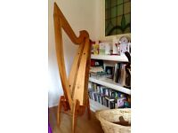 34 string wire harp