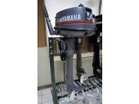 4HP LONG SHAFT YAMAHA OUTBOARD MOTOR / 2003 MODEL / SERVICED / ALL DOCS / PERFECT MECHANICALLY /VGC