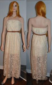 BRAND NEW: Trixxi Ivory Lace Maxi Dress XS