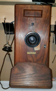 antique Western Electric wall phone