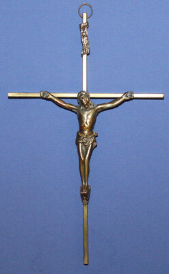 Vintage Wall Hanging Brass Cross Crucifix