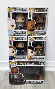 Funko Pop Movies The A-Team Complete Set of 5 with Ride