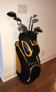 Taylor Made golf clubs and bag