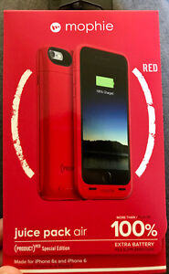"""Mophie Juice Pack Air """"Special Edition RED"""" for IPhone 6/6S"""