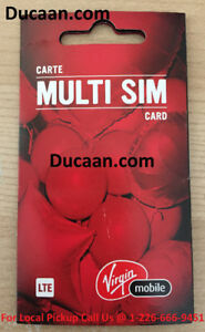 Virgin Mobile Canada 3 in 1 Sim Card 3G 4G LTE Travel Nano/Micro