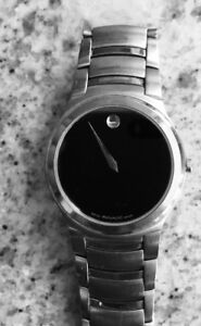 Men's Movado 84 G2 1851 Black Dial Stainless Steel Watch