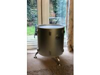 Upcycled drum side table