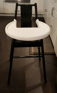 Wooden Ikea high chair