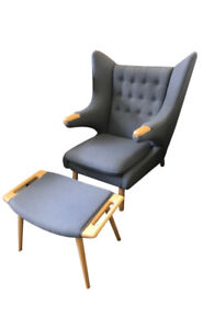 Papa Bear Chair and ottoman-Brand new  $650ea (2 available)