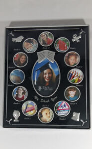 My School Years Black 8x10 Multi Picture Frame 3.5 x 5in Photos
