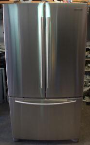 Réfrigérateur à portes françaises de 27 pi3, Inoxydable