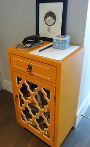 Entryway table and stool