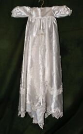 Christening robe and bonnet - professionally made, never worn