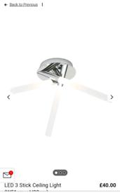 LED 3 Stick Ceiling Light (W51cm x H28cm)