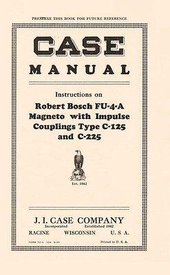 Case Magneto Fu-4-a C-125 C-225 Impuls Operators Manual
