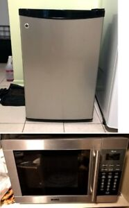 LG Small Fridge and Microwave (Stainless steel) - Seperate