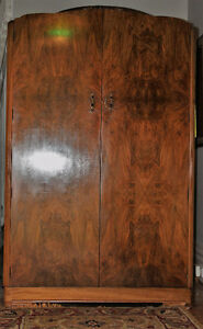 Art Deco Walnut Gentleman's Wardrobe C1930