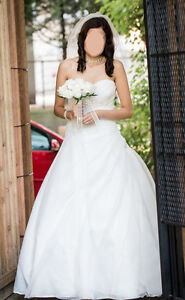 Gorgeous ivory wedding gown XS (size 0-2)
