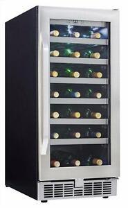 Cellier à vin 34 bouteilles Silhouette Select Danby ( DWC93BLSST )