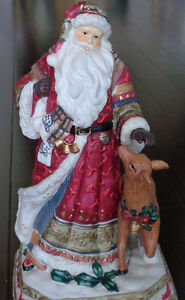 Musical Ceramic Santa and Reindeer