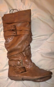 Womens Brand New Brown Sexy Boots Size 9