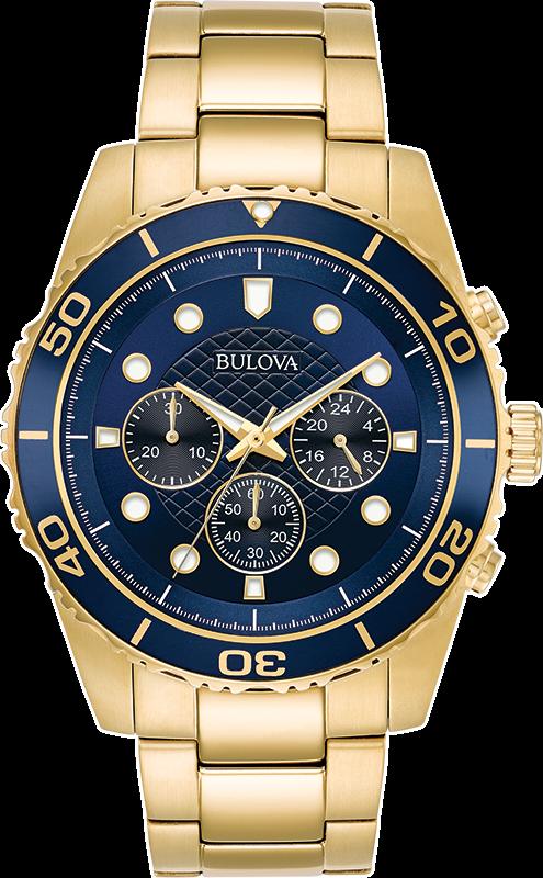 Bulova Men's 98A172 Quartz Marine Star Chronograph Blue Dial