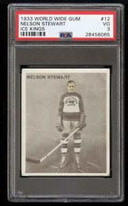 NELS STEWART ... 1933-34 ICE KINGS .. PSA 3 .. + other ICE KINGS