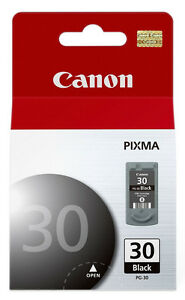 2 packs canon 30 black ink