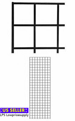 2 Pack New Retails Black Finish Wire Grid Wall Panel 2 X 6 Fast Shipping