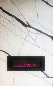 ***MARBLE & QUARTZ FANCY FIREPLACE***