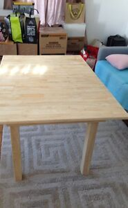 Unfinished Dining Table Hardwood $150 OBO