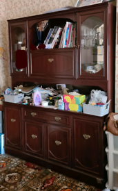Brown Display cabinet - good condition
