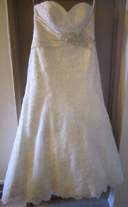 Allure Wedding Gown Ivory/Silver with Swarovski Gems