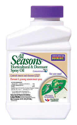 Bonide Horticultural Spray Oil Organic Insect Killer For Insects and Fungus 1 pt Organic Insect Killer