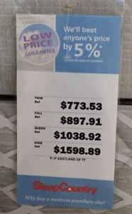 SERTA OPTIMUM Firm Twin Bed available on May 15th 2018
